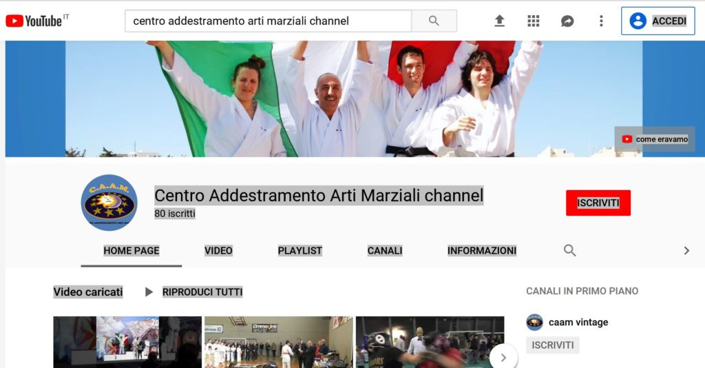 VIDEO CAAM YOUTUBE