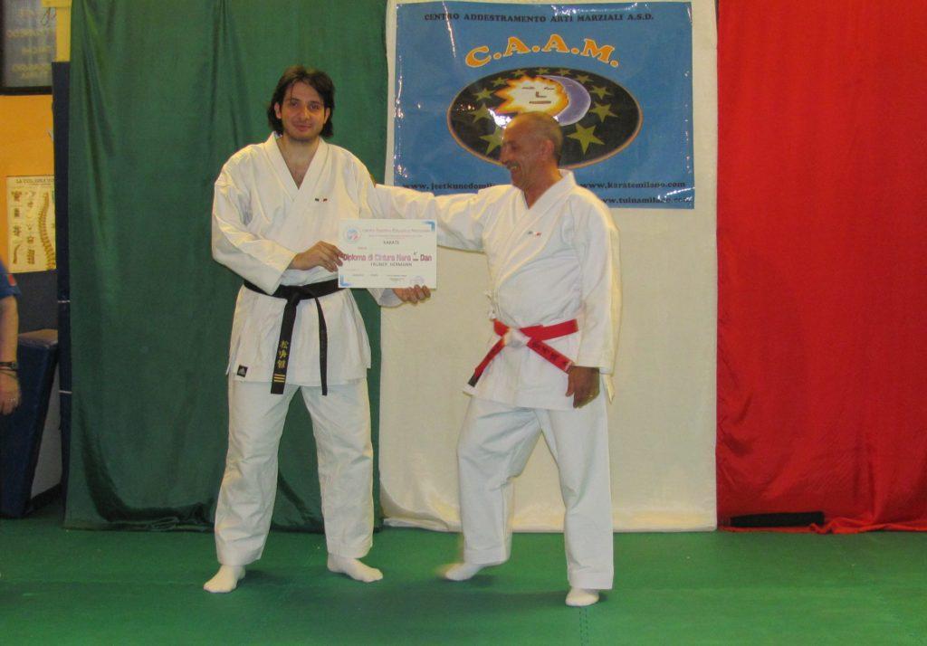 Maestro Fruner Hermann 4° Dan Karate Milano
