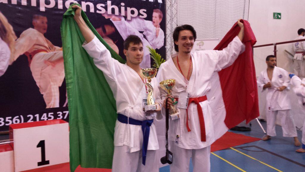 Cavaliere e Ruddell campioni di Karate Kumite