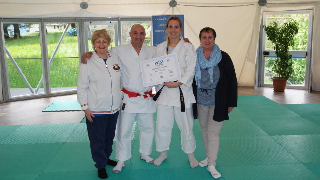 Maestro Speringo Barbara 4° dan karate CAAM MIlano